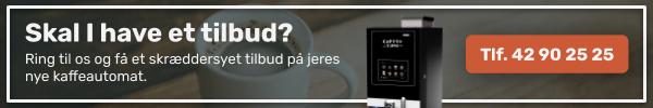Tilbud på kaffeautomater